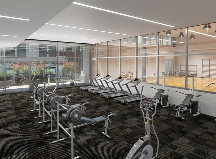 state of the art fitness center-rendering