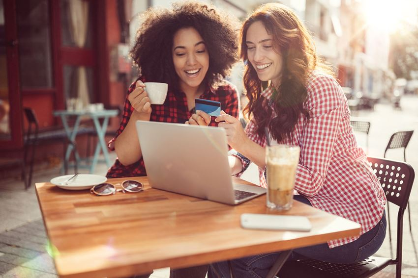 Stock image- Friends Drinking Coffee