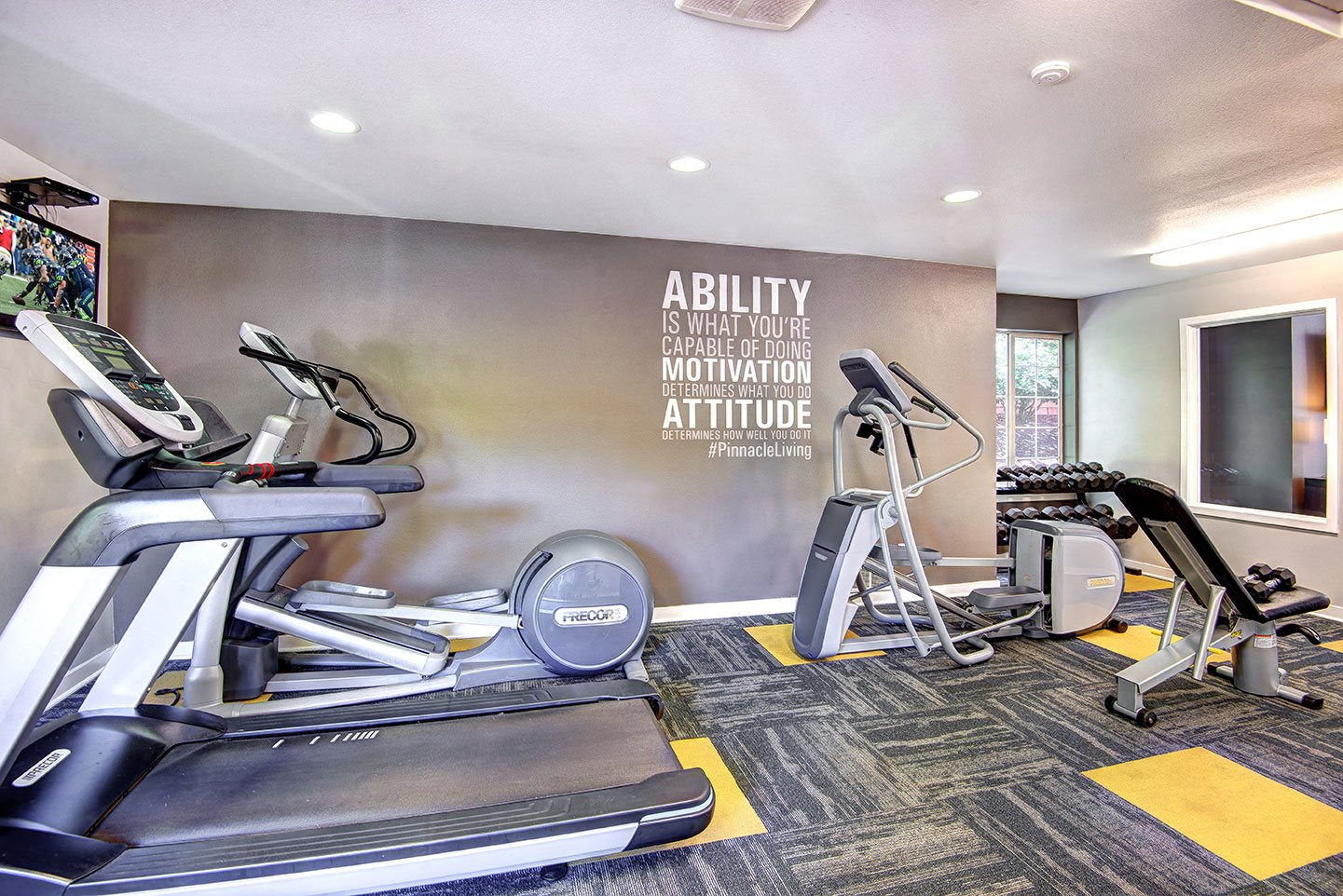 fitness center with state of the art equipment
