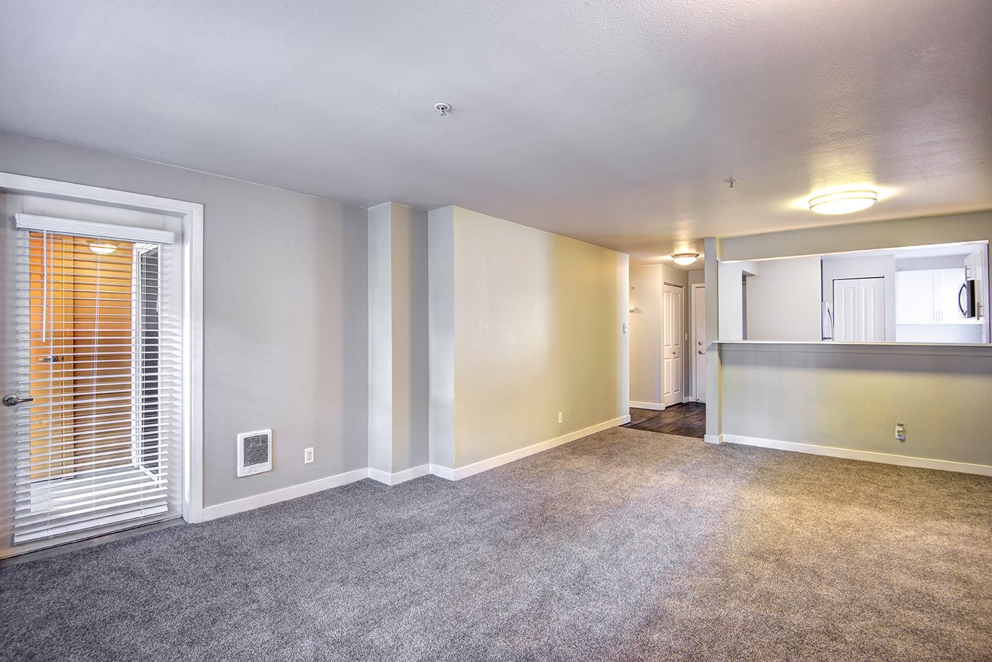 spacious living and dining room areas