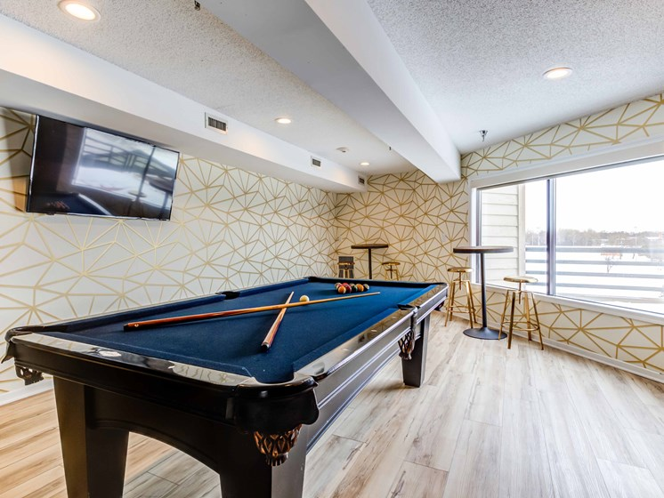 pool table at clubhouse