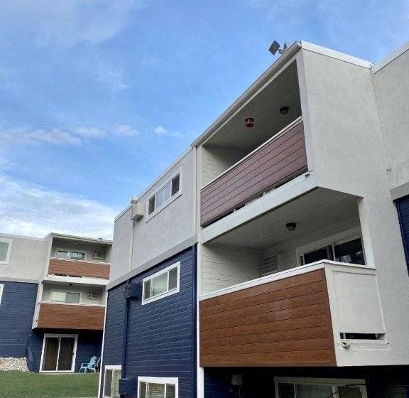 Updated exterior balconies