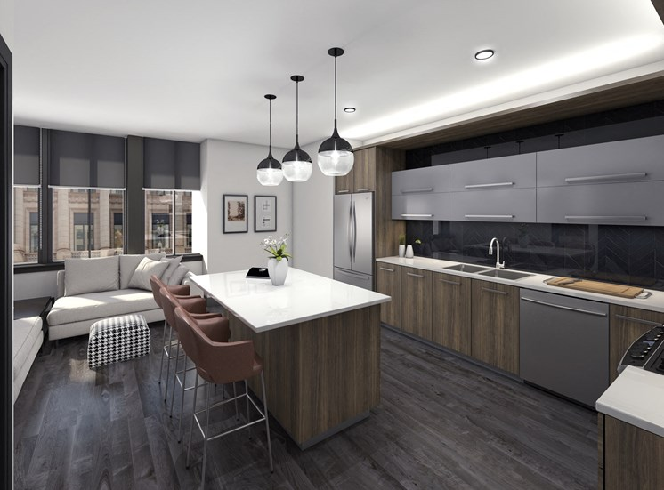 stainless steel state of the art appliance package-rendering