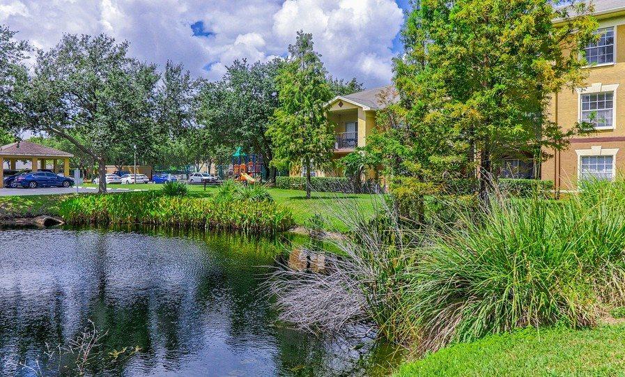 Beautiful Lake at Plantation Gardens Apartments, Pinellas Park, FL, 33782