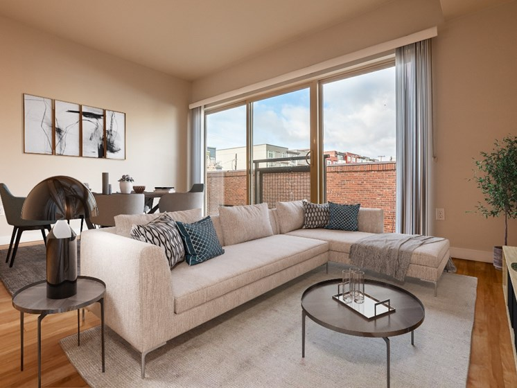 spacious and cozy living rooms
