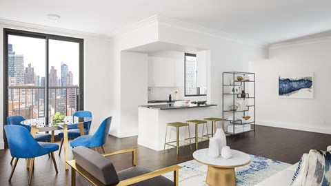 Renovated kitchens and apartments with balconies