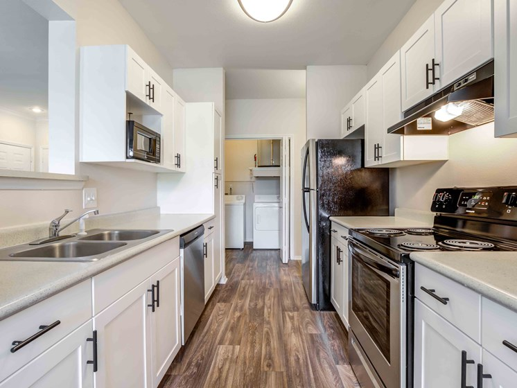 Wood Style Flooring in Kitchen- Select Apartments