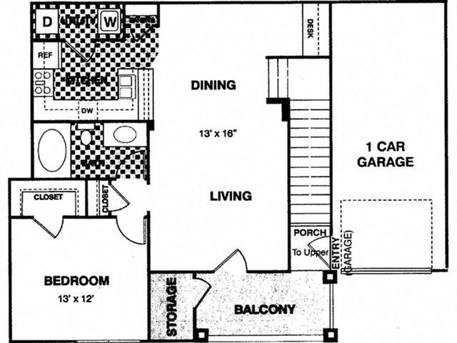 Vivion House Upper with 1 Car Garage