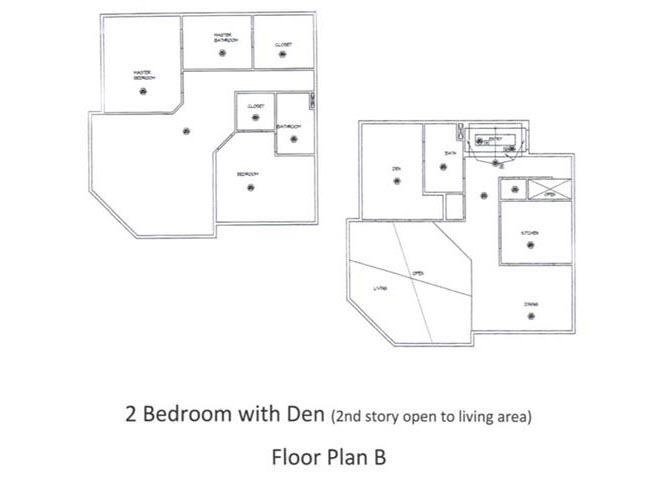 2 Bed - 3 Bath, 2276 sq ft, floorplan B