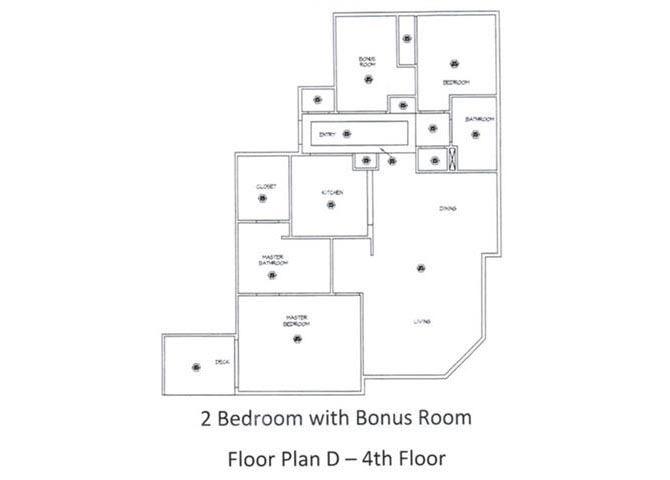 2 Bed - 2 Bath, 1387 sq ft, floorplan D