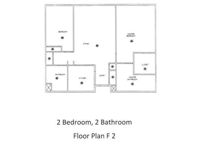 2 Bed - 2 Bath, 1368 sq ft, floorplan F2