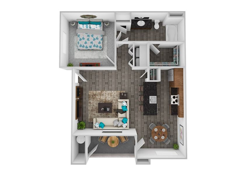 Oasis 1 Bed 1 Bath 846 square feet