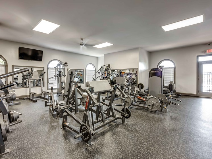 State-Of-The-Art Gym And Spin Studio at Smoky Crossing Apartments, Seymour, TN