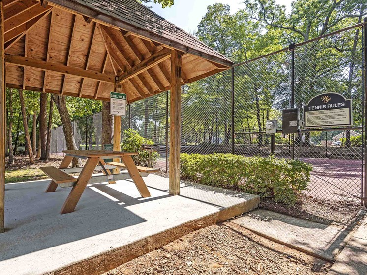 Picnic Pavilion with Charcoal Grill