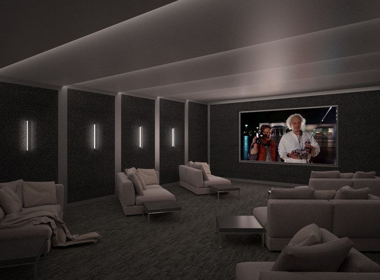 rendering-theater room