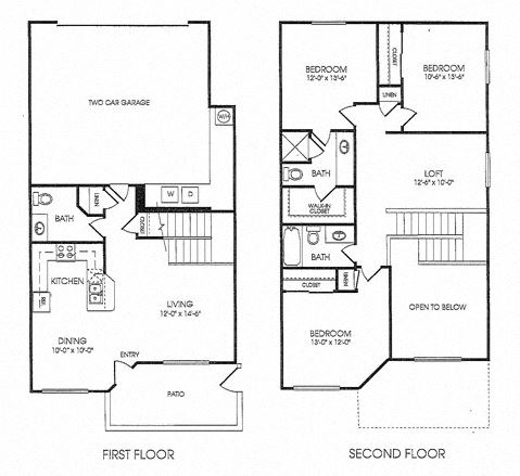 3 Bed - 2.5 Bath |1612 sq ft