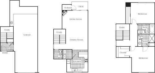 Florence 1136 2 Bed 2.5 Bathroom Floor Plan at Bella Terra Apartments, Washington