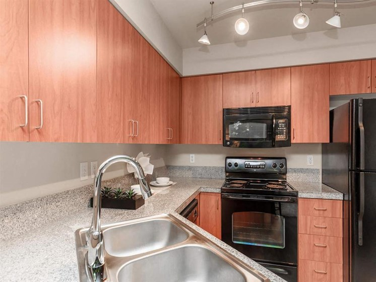 Cherry and Maple Wood Cabinets