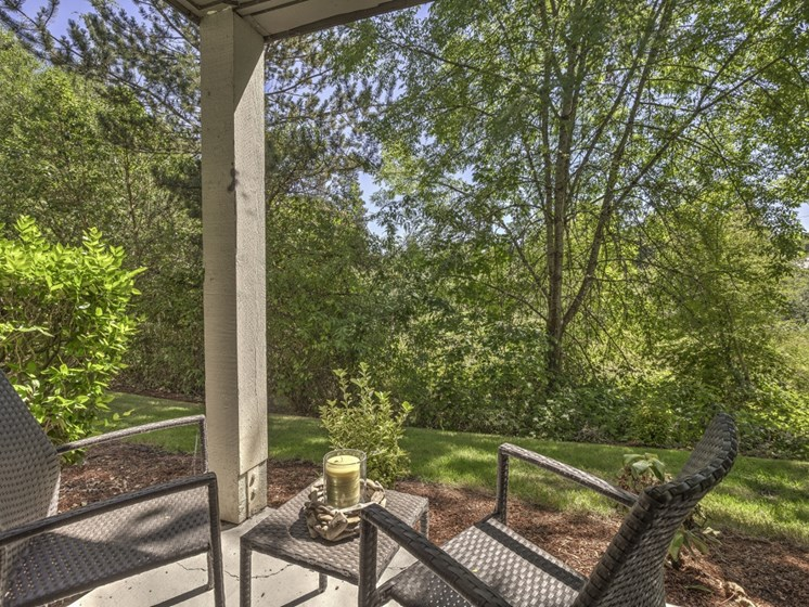 Private Patio/ balcony at Cedar Crest, Beaverton, OR, 97078