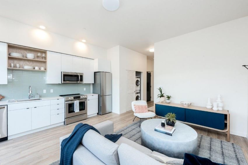 Apartments in Portland, OR - Modern Living With Stylish Decor, Hardwood Flooring, and Access to the Kitchen