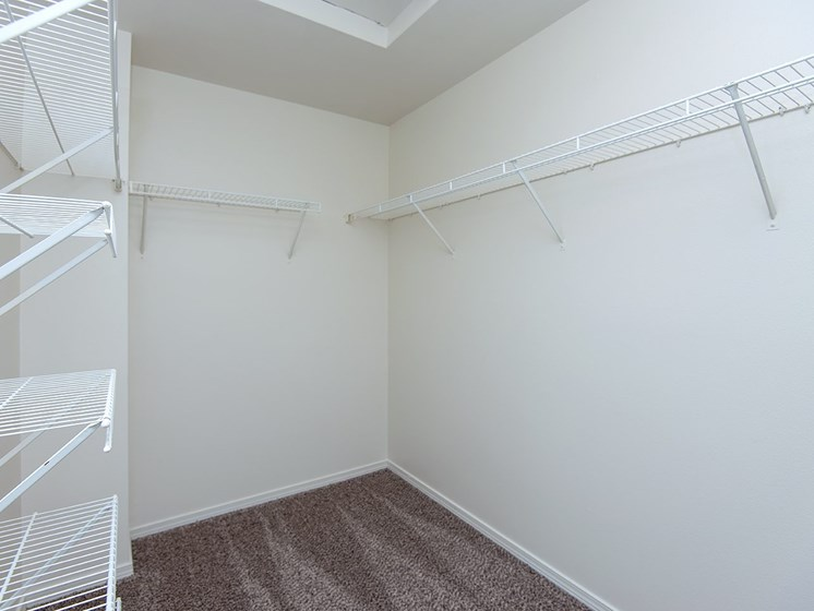 Walk-In Closets in specific apartments