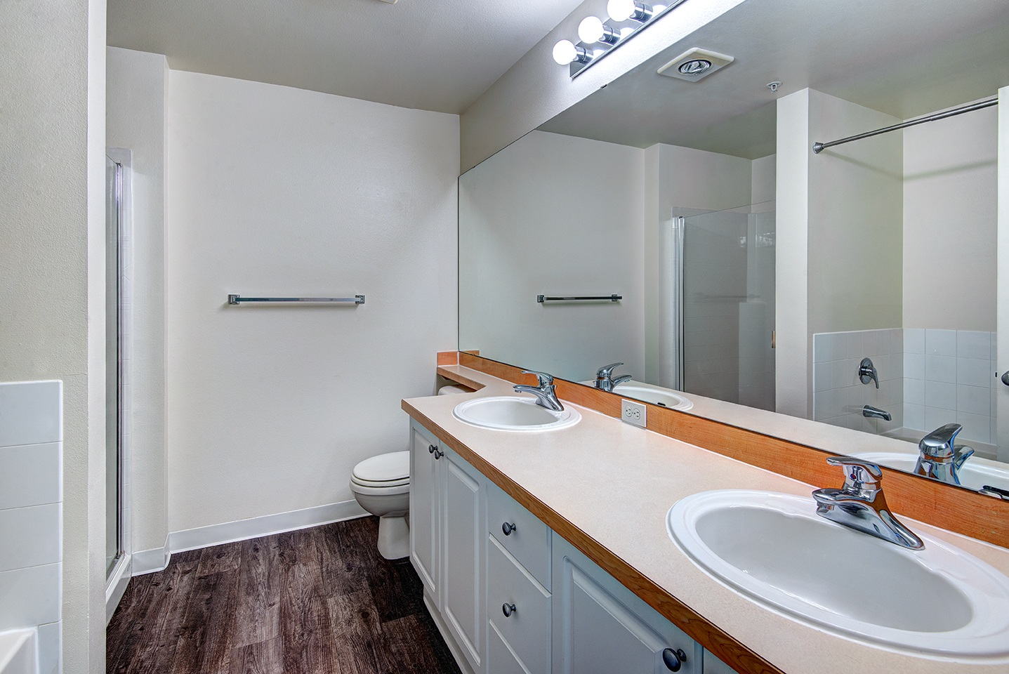 Dual Sinks in Master Bathroom in specific apartments