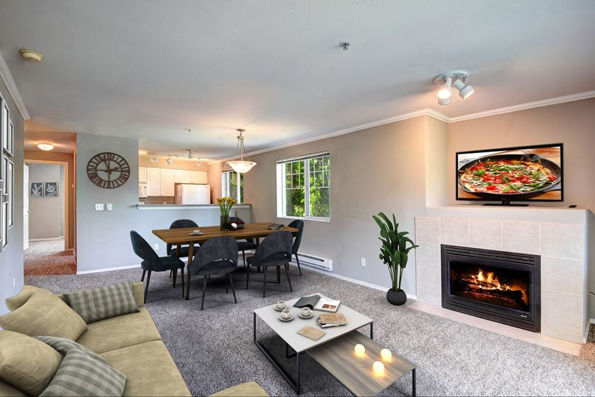 Gas/Electric Fireplaces in specific apartments