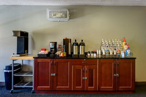 complimentary coffee bar