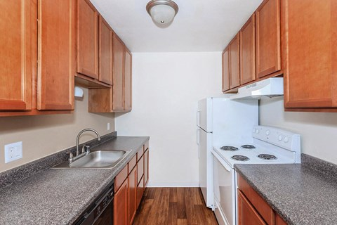 kitchen with updated countertops