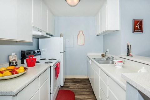kitchen- wood-style flooring