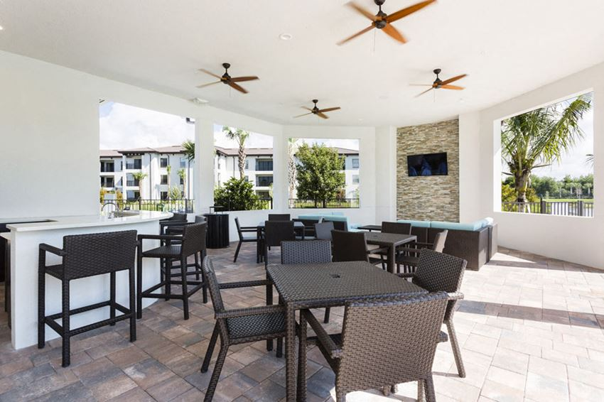 outdoor, covered, social area