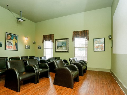 Portofino Senior Apartments Movie Room