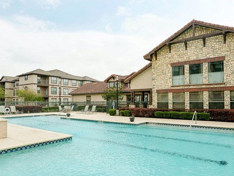 Portofino Senior Apartments poolside BBQ and picnic area