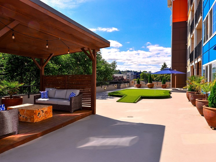 outdoor covered social area