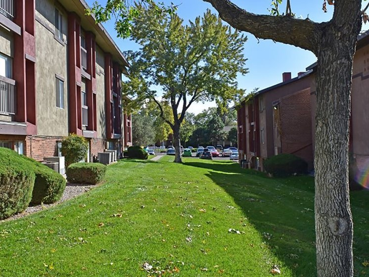 apartments with shade trees