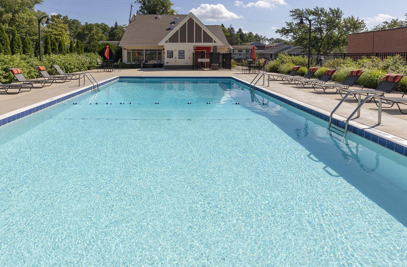 Pool and Sundeck at Apartments in Kalamazoo MI