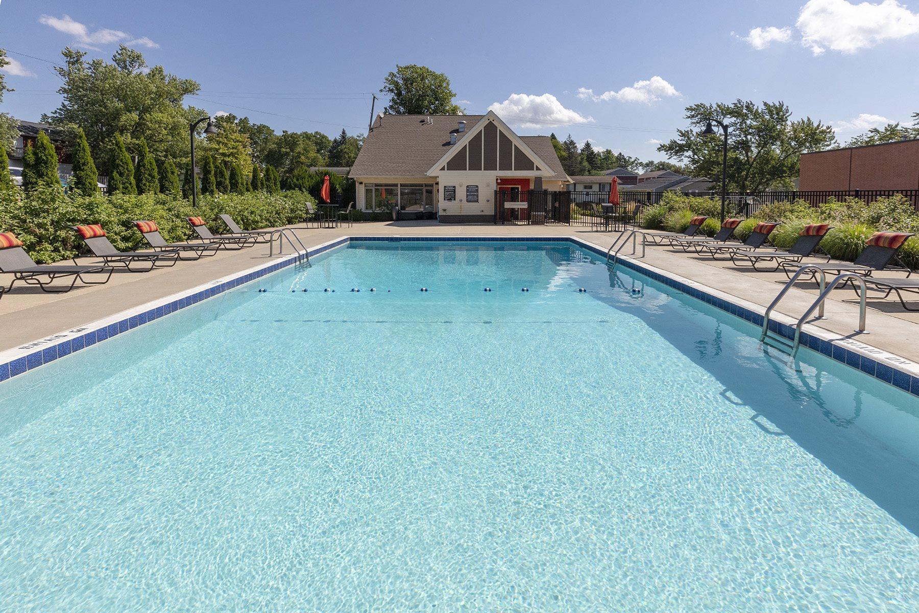 Pool and Sundeck at Arcadia Grove Apartments in Kalamazoo MI