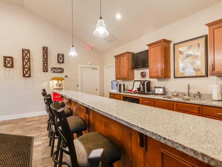 The Hills Apartments clubhouse kitchen
