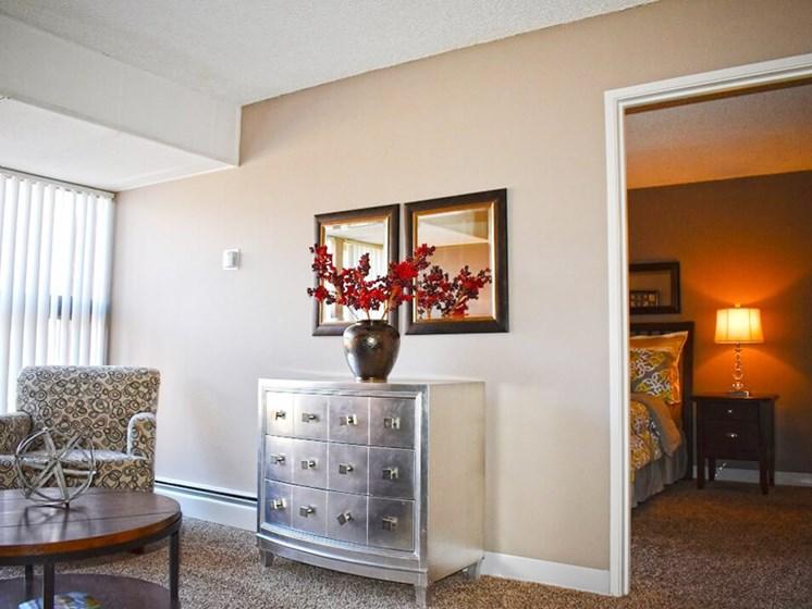 living room in Albuquerque apartment