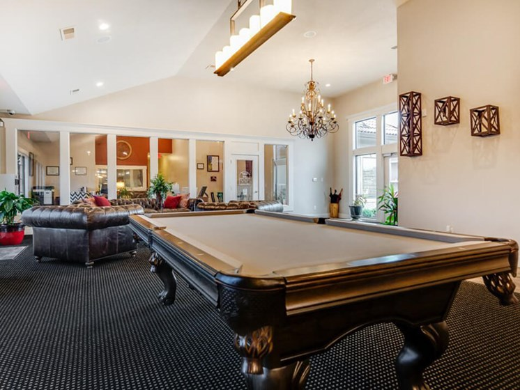 billiards at clubhouse in The Hills