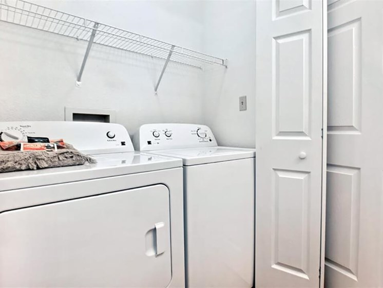 washer and dryer in every unit