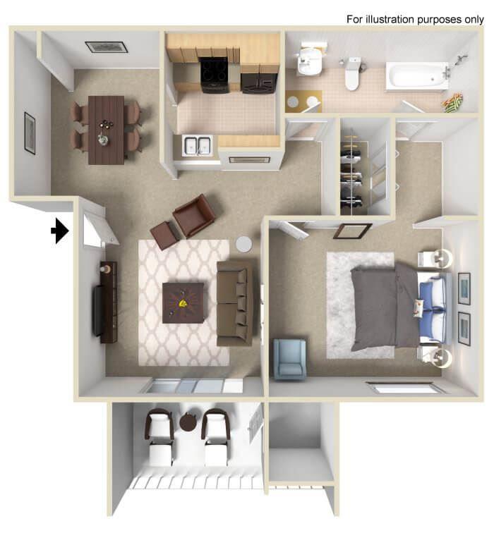 floor plans of one bedroom apartment