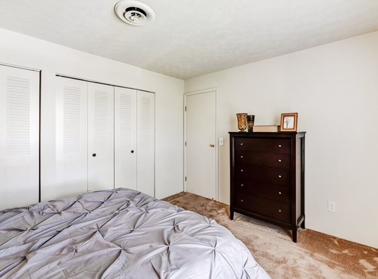 large closets at Carriage Hill apartments
