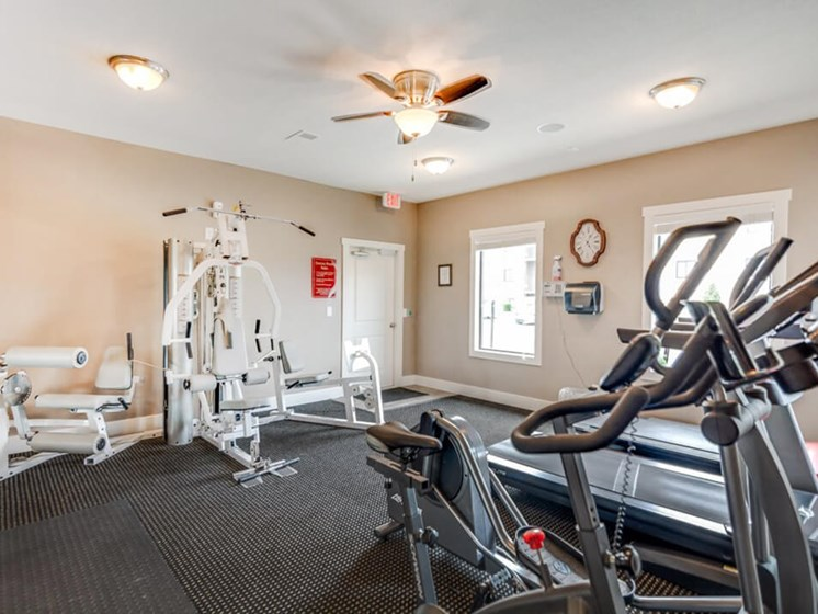 The Hills Apartments fitness center
