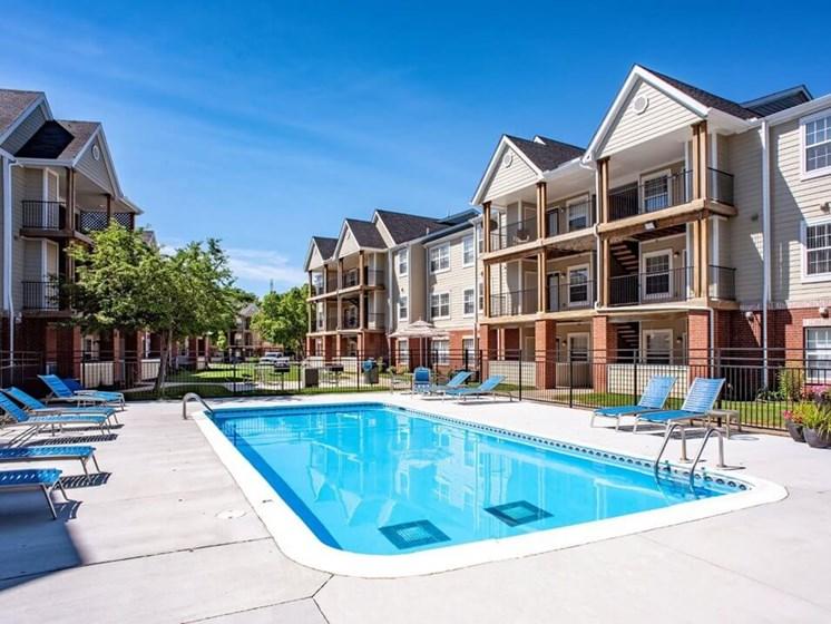 Village Woods apartments sun deck