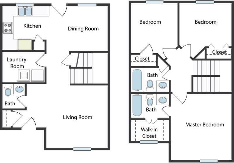3 bedroom townhome in Columbus, OH