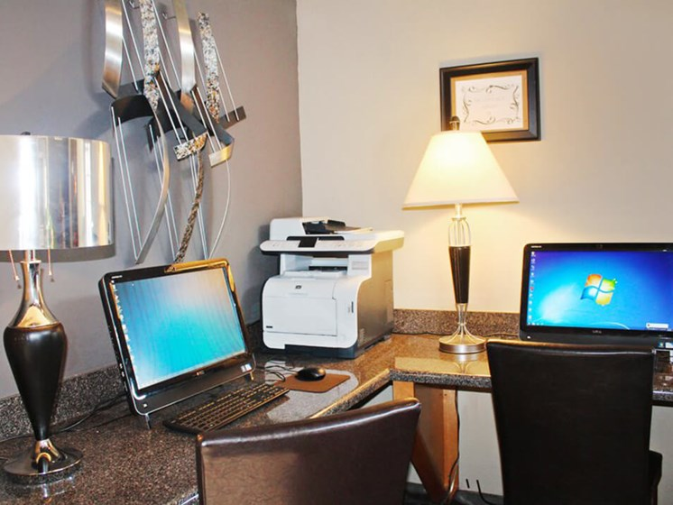 Business Center at apartments