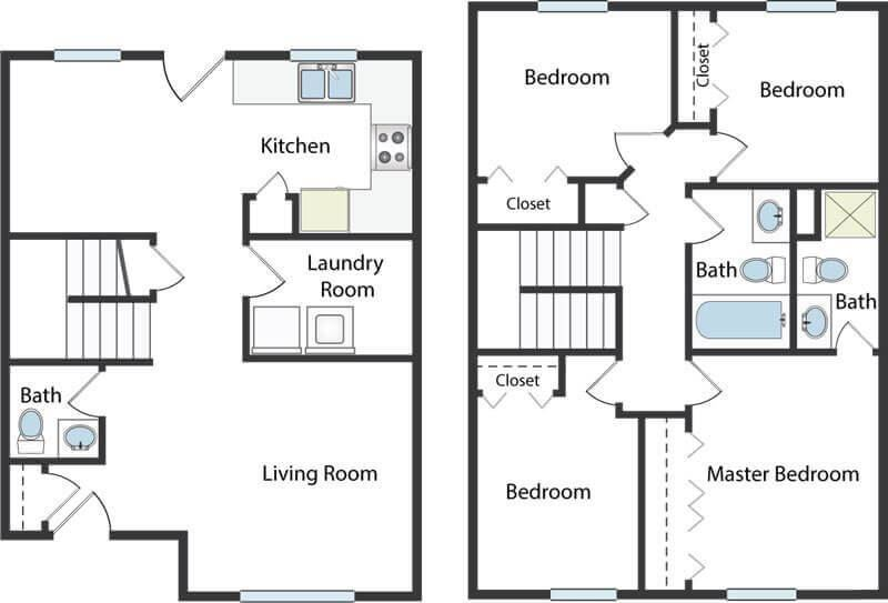 4 bedroom townhome in Columbus, OH