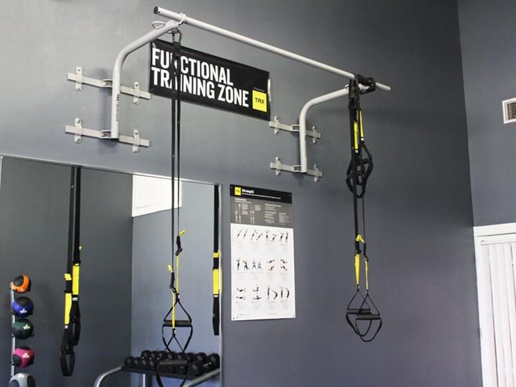 fitness center pull-up bar