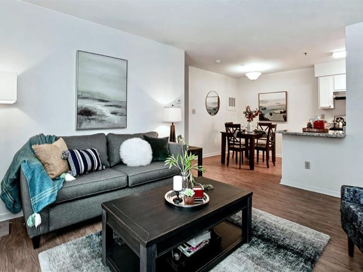 large entertaining space in Village Woods Apartments